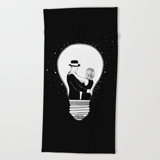 We light up the dark Beach Towel