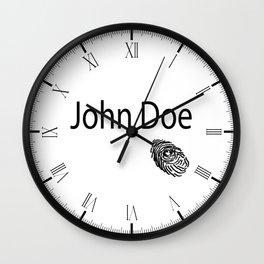 John Doe FIngerprint Wall Clock