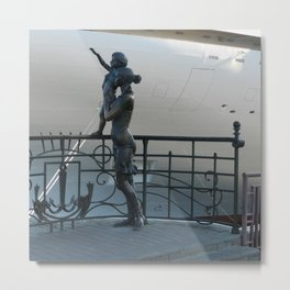 """Fisherman's wife"" in Odessa passenger port  Metal Print"