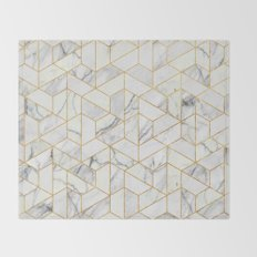 Marble hexagonal pattern Throw Blanket