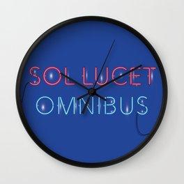 SOL LUCET OMNIBUS - Dark Blue Wall Clock
