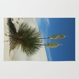Soap Yucca In The White Sands Dunes Rug