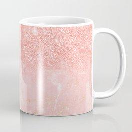 Blush Star Glitter on Marble Coffee Mug