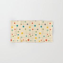 Mid-Century Dots Pattern Hand & Bath Towel