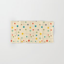 Mid-Century Dots Pattern Hand & Bath Towel