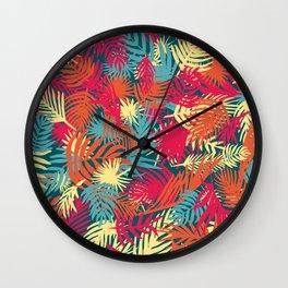 Funky psychotropical palms Wall Clock