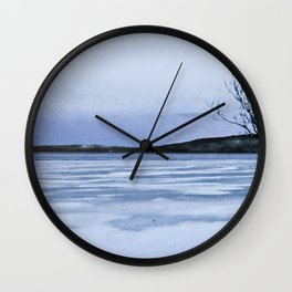 Frozen Lake Wall Clock