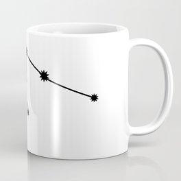 Aquarius Star Sign Black & White Coffee Mug