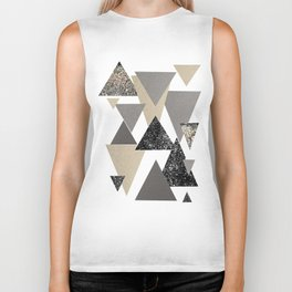 Geometric Triangles Glitter Dream #2 #minimal #decor #art #society6 Biker Tank