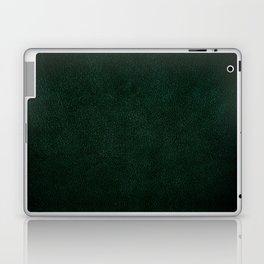 Dark green leather sheet texture abstract Laptop & iPad Skin
