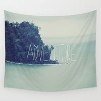 island Wall Tapestries featuring Adventure Island by Leah Flores
