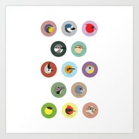 Series 01 Bird Collection Art Print