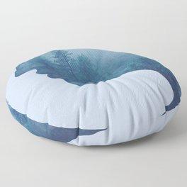 double exposure Floor Pillow