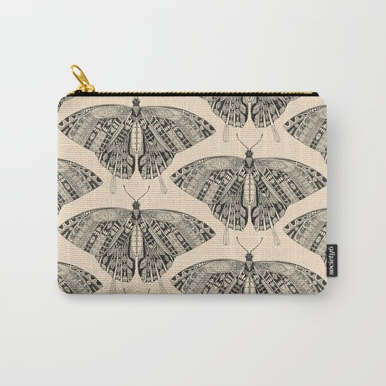 swallowtail butterfly pale peach black Carry-All Pouch