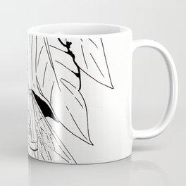 Fairy under angel trumpet - Lineart Coffee Mug