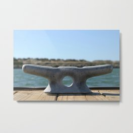 Dock Cleats Metal Print