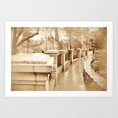 I like the feel of the rain on my face when it drizzles Art Print