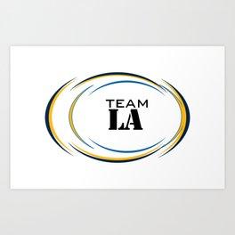 Team Los Angeles - Superbowl 2019 Art Print
