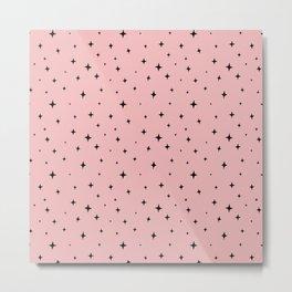 Zetta Stars Pink Metal Print