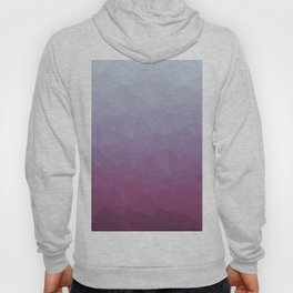 Low Poly Polygonal Geometric Design Pink 02 Hoody