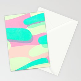 jelly / pink & aquamarine Stationery Cards