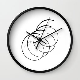 """"""" Eclipse Collection"""" - Minimal Number Six Print Wall Clock"""