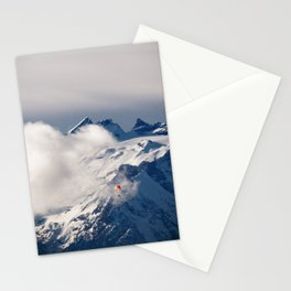 Paraglider in the Alps Stationery Cards