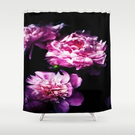 Flower Florals In Pink Shower Curtain