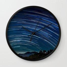 Star trail Wall Clock