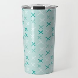 X Pattern - Mixed Mint Travel Mug