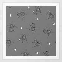 Rye Grey Pattern Art Print