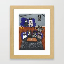 Halloween Cats Ouija Board Framed Art Print