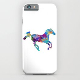 Horse Art Animals Gift Colorful Watercolor Decor iPhone Case