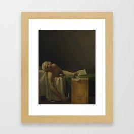 Death of Marat Framed Art Print