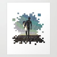 surfer Art Prints featuring Surfer by NeleVdM