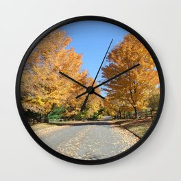 Leaf Peeping Wall Clock