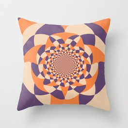 Windmill abstract Throw Pillow
