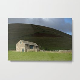 Rural peak district farm building landscape Metal Print