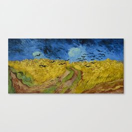 Wheatfield with Crows by Vincent van Gogh (1890) Canvas Print