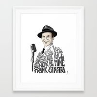 frank sinatra Framed Art Prints featuring Frank Sinatra by Kenneth J. Franklin