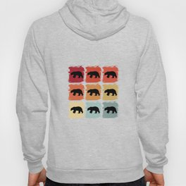 Retro Pop Art Polar Bear Animal Gift Idea Hoody