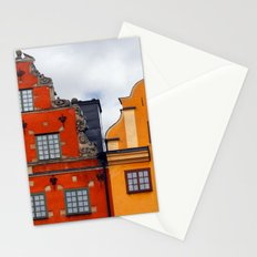 Stockholm. Colorful Houses in Gamla Stan Stationery Cards