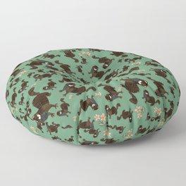 Shy european mink pattern Floor Pillow