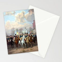 General Washington Enters New York Stationery Cards