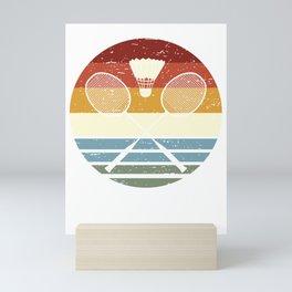Retro Badminton Mini Art Print