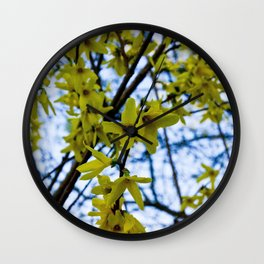 Yellow Flowers - Spring Arrives Wall Clock