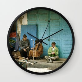 North African tea time Wall Clock