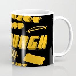 Pittsburgh Yinzer Jagoff Steel City 412 Retro Funny Gifts Coffee Mug