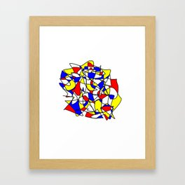 Mondrian Sneeze Framed Art Print