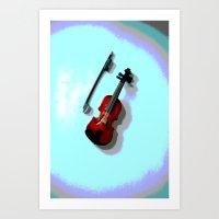 violin Art Prints featuring Violin by Vitta